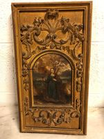 18th C. Framed Painting on Onyx