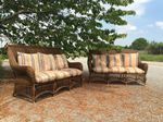 Pair of Vintage Wicker Sofas