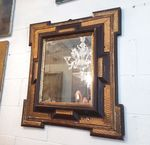 17th C. Lacquered & Gilded Wood Mirror
